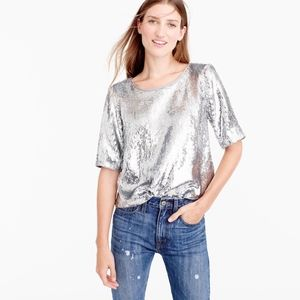 J CREW WOMEN SEQUIN PARTY TOP